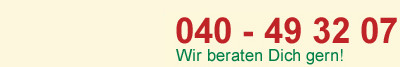 Telefonnummer 040 - 49 32 07