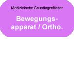 Medizinische Grundlagenfächer: Bewegungsapparat - Orthopädie